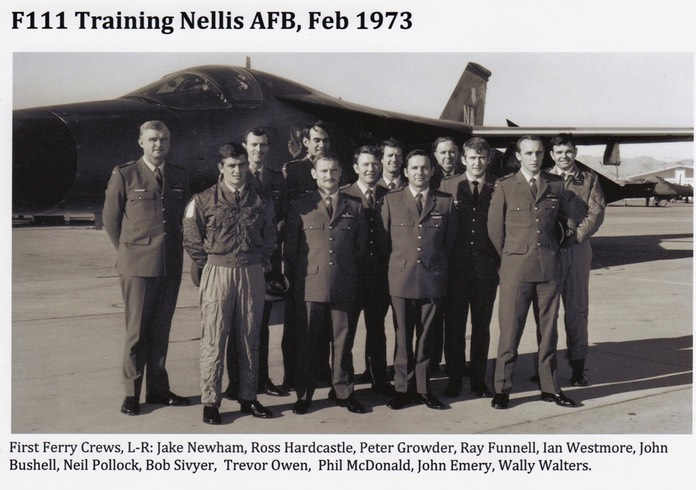 F111 Crews Nellis AFB Nevada Feb1973